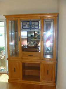 oak Dining table and hutch