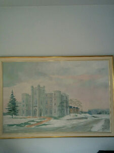 Anne Marsh Evans Original Painting of the London Court House