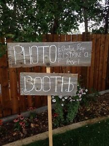Vintage handmade photo booth sign!