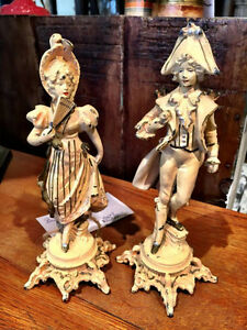 Vintage Pair of French Statues