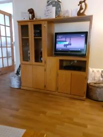 Beautiful wood entertainment cabinet
