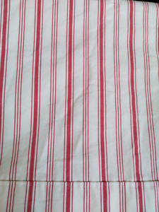 Ikea Red Ticking Stripe Curtains