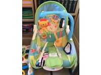 childrens toys, bouncer and chair seat