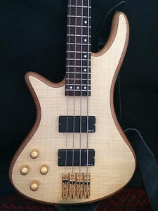 Left Handed Schecter Stilleto Custom-4 Bass Guitar
