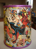 Female super action hero lampshade  Hand made one of a kind