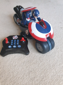 Captain America Remote Control Motorcycle