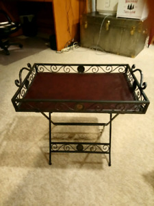 Iron folding tray table