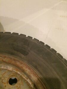 Winter tires on 4 bolt steelies Cambridge Kitchener Area image 3