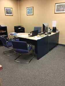 OFFICE DESKS, CHAIRS AND FILE CABINETS
