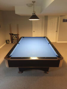 POOL TABLE  -  BLACK CROWN    9 ft x 4½ ft  Real Good Condition
