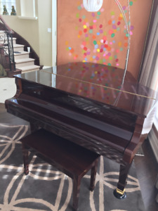 Pristine Condition Baby Grand Piano with bench