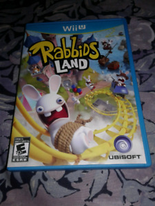 For sale rabbids land wiiu in perfect condition.