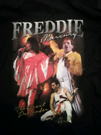 Collection of Queen, Freddie Mercury clothes. T shirt and vests