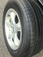 18inch OEM BMW X5 RIMS and MICHELINE All Season TIRES %90 Watch|
