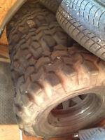 35x15.50x16.5 super swamper TSL tires with rims