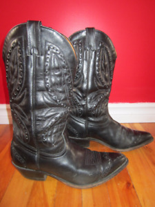 Leather Cowboy Boots Size 8.5 , Style #25
