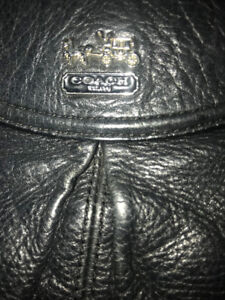 Designer Coach  Black Leather Purse $65 OBO