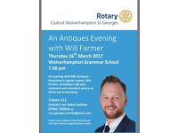 Charity Antiques Evening with Will Farmer