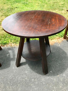 Antique mission side tables