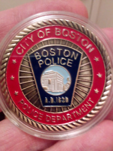 Large 40mm Boston Police City of Boston Police Department Coin.