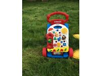 Vtech turtle bouncer and vtech baby walker toy
