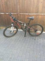 Mountain bike with Disc brakes and full suspension !