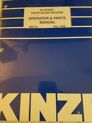 Kinze 50 Series M0176 Grain Auger Wagons Operator Parts Manual Rev 306