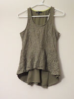 Olive Lace Sleeveless Tank Top