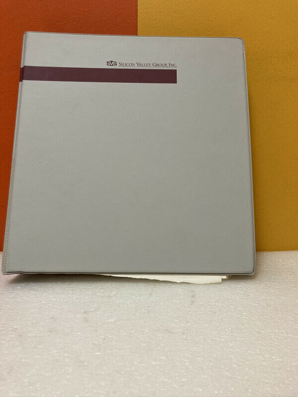 Silicon Valley Group 51-20000 Rev A 90 Series Operation Manual
