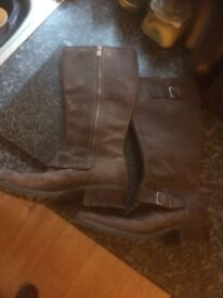 Ladies Timberland Leather Boots size 8.5 *as new*