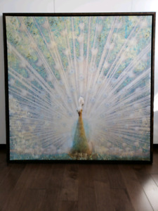 Peacock Canvas Print Wall Art Frame