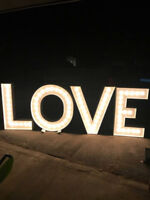 Approx. 4' LOVE Marquee Letters available for rent!