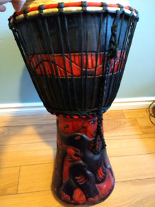 Djembe drum. Includes bag.