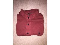 Allsaints polo shirt , dark red. Medium £10