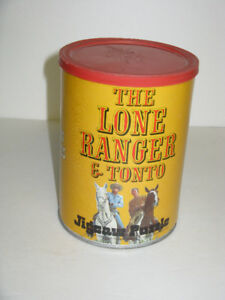 OLDER THE LONE RANGER AND TONT0 PUZZLE WITH CANISTER