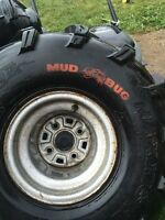 Pair of Mud Bug ATV  Tires and Rims for Sale