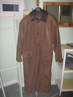 "Paul Rodon Couture ""midi"" lenght Soft Leather Coat $75.00 OBO"