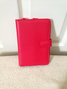 Red Leather Portfolio Case for Kindle Fire Tablet