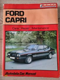 Auto data Ford capri