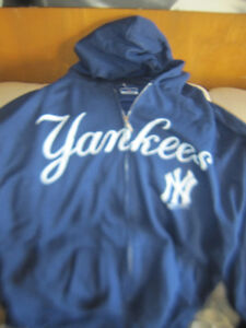 New York Yankees Baseball Team Full Zip Sweater Jersey New