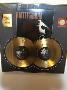 U2 Rattle and Hum 24k gold plated albums