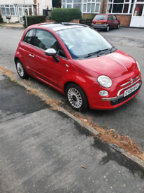 Fiat 500 08reg RED 82K Miles- LOW INS GROUP