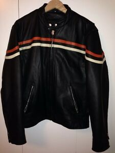 Leather Motorcycle Jacket - Men's Medium