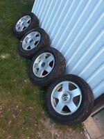 195/65R15 snow tires on rims!