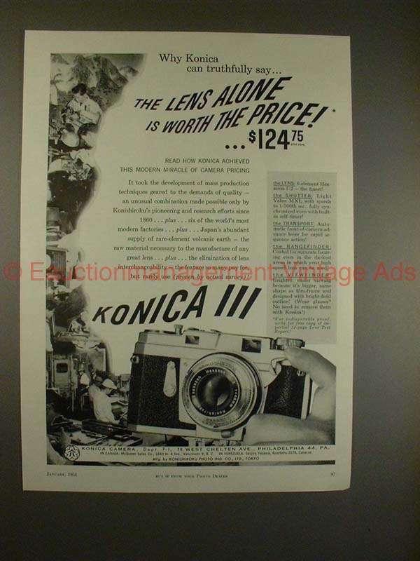 1958 Konica III Camera Ad - Can Truthfully Say!!
