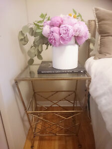 Beautiful tall bedside table with large storage set of 2