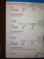 4 X Toronto  Bluejays Tickets for July 31st @ 7:07PM