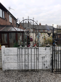 Wrought Iron Gate / Metal gate / tall gate / entry gate / side gate /