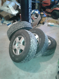 P26570R16 4 TIRES ON RIMS FOR SALE