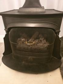 Cast iron fire